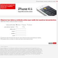 iPhone 4S en Vodafone