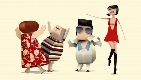 Algunos de los personajes de Yoigo