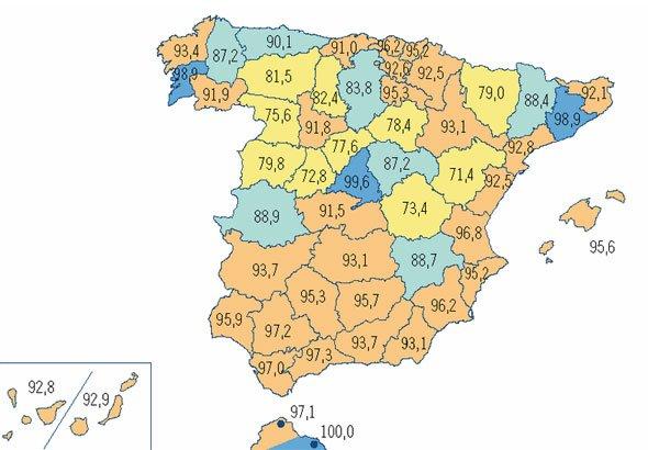 Mapa de la cobertura 3G en España