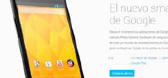 Google rebaja su Nexus 4 hasta los 199 euros