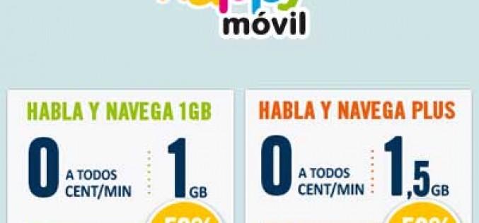Happy Móvil amplía su promoción del 50%