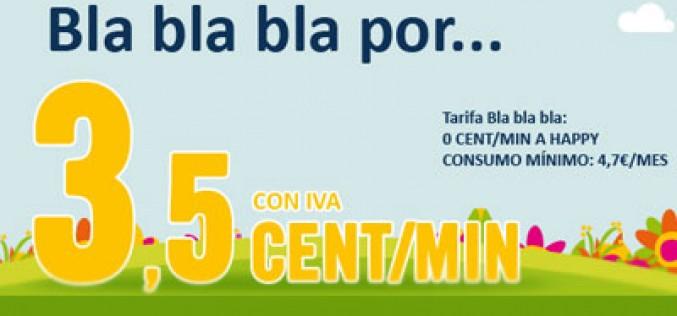 Happy Móvil lanza una nueva tarifa: Bla Bla Bla