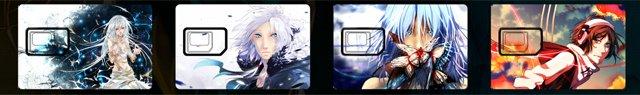 Podremos elegir entre 4 diseños distintos para nuestra tarjeta SIM.