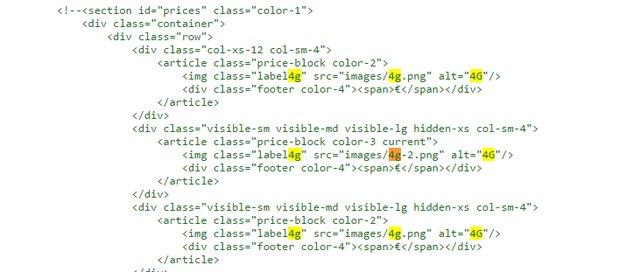 Los códigos HTML de la página web de .T desvelan que el nuevo operador contará con cobertura 4G