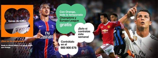 fútbol en Orange TV