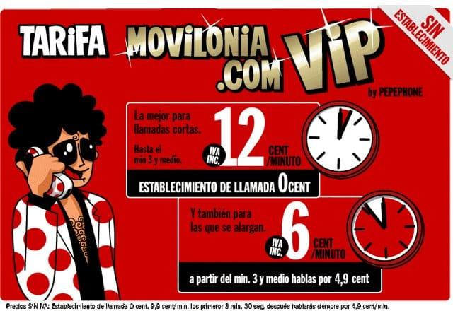 Tarifa Movilonia.com VIP by Pepephone