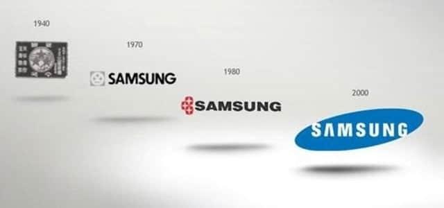 evolución del logotipo de Samsung