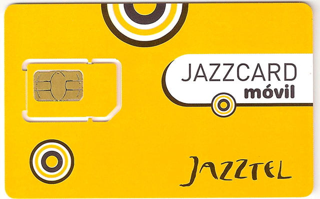 tarjeta SIM prepago de Jazzcard Móvil