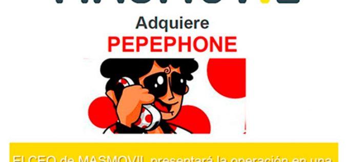 Masmóvil comunica la adquisición de Pepephone