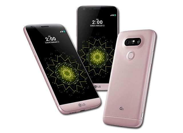 LG G5 de color rosa