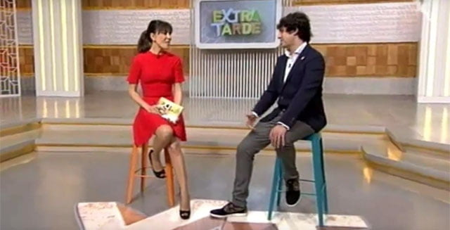 Unai Nieto, en una entrevista en Canal Extremadura