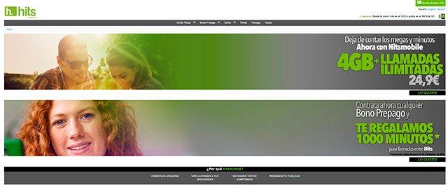 nueva página web de Hits Mobile