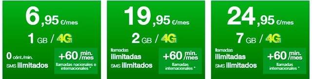 tarifas móviles de Amena