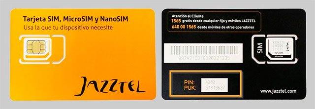 tarjetas SIM de Jazztel