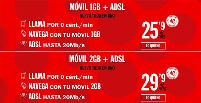 ADSL y móvil con Pepephone