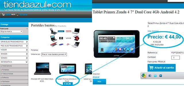 precios del Black Friday de TiendaAzul.com