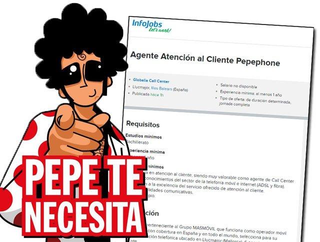 oferta de trabajo en Pepephone