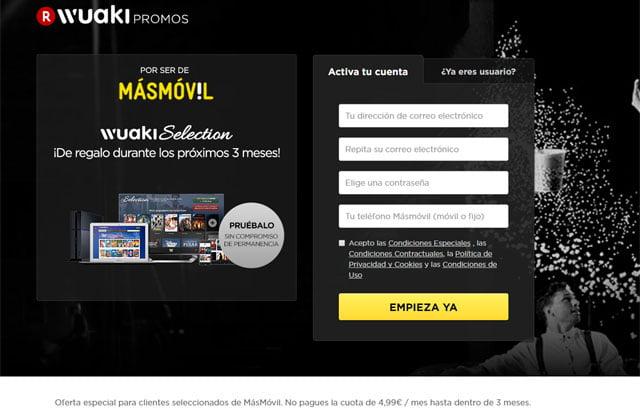 Wuaki Selection para clientes de Masmóvil