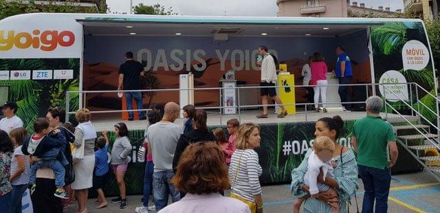 Autobús Oasis Yoigo