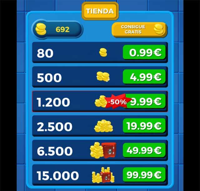 tienda de monedas de Winapot