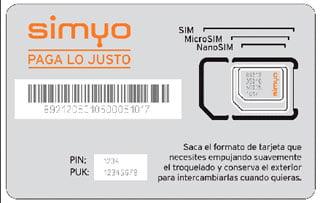 SIM de Simyo