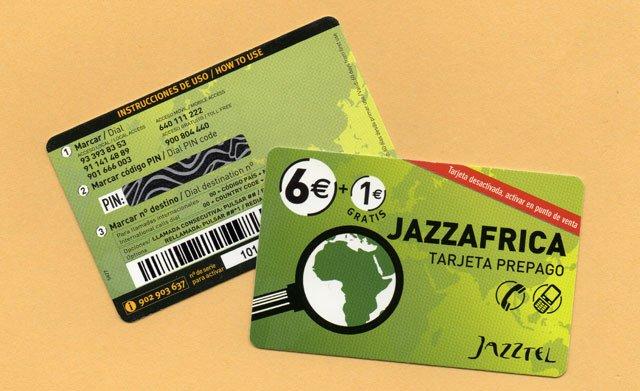 calling card de Jazztel