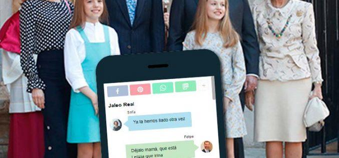 La última conversación del grupo de WhatsApp de la Familia Real