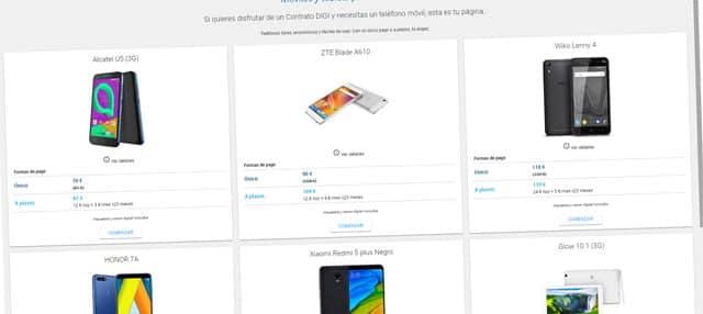 smartphones y tablets de Digi