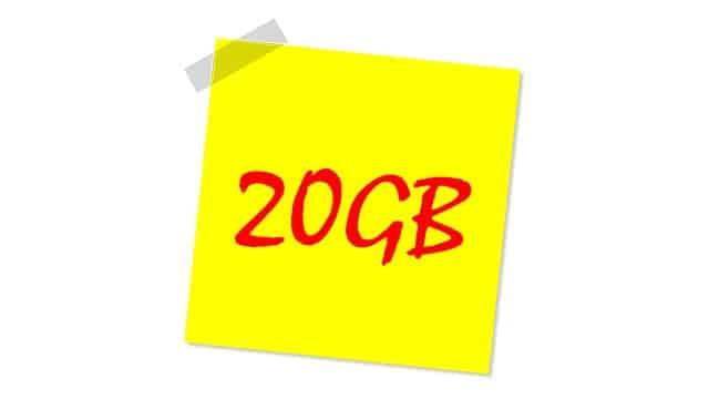 comparativa de tarifas con 20GB