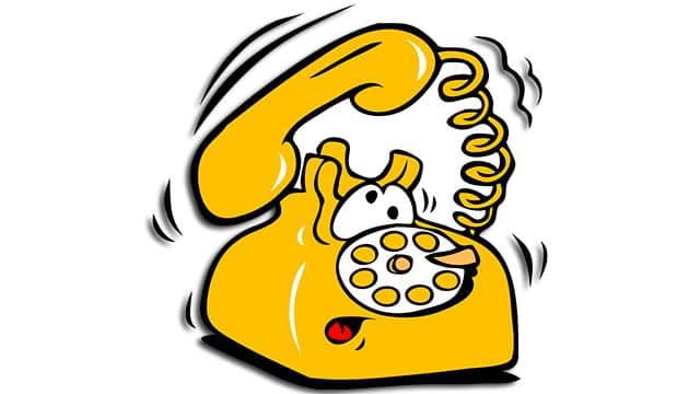 teléfono fijo sonando