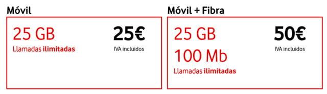 tarifa móvil y convergente de Vodafone Bit