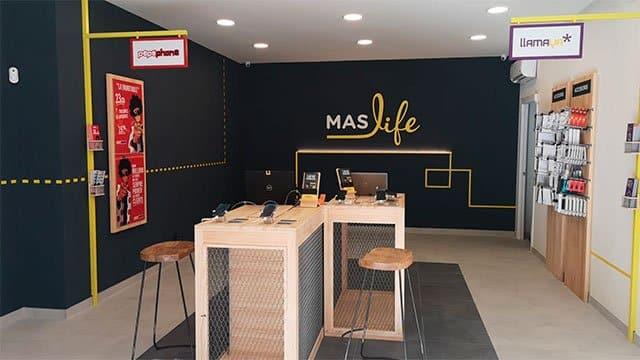 tienda maslife del grupo Masmóvil