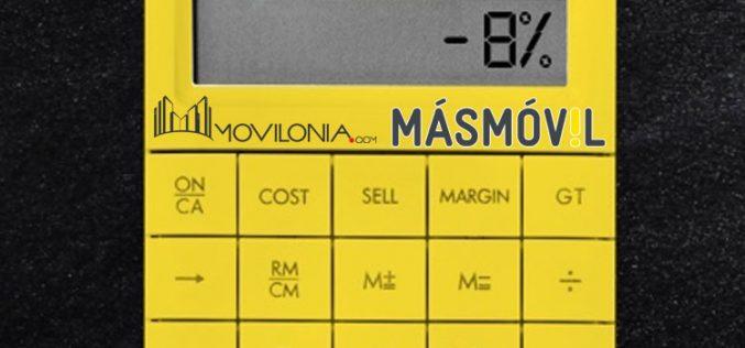Contratar una tarifa de Masmóvil desde Movilonia.com supone pagar un 8% menos para siempre