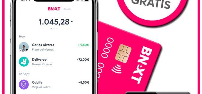 Bnext, la tarjeta gratuita y sin comisiones que se controla desde el smartphone
