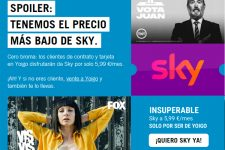 Adiós a la tele gratis con Yoigo: desde ahora Sky cuesta 5,99€/mes