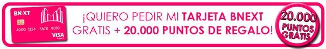 boton para conseguir 20.000 puntos con Recompensas de Bnext