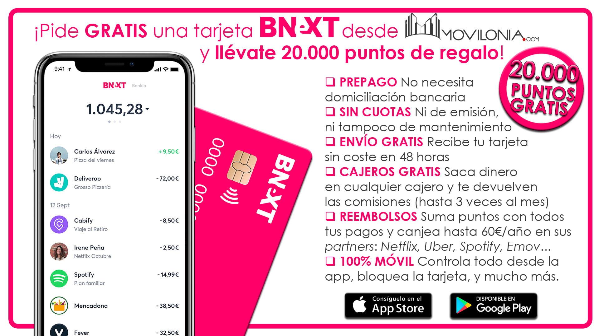 20.000 puntos gratis con Bnext