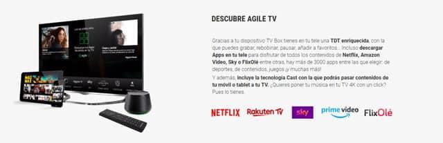Netflix en Agile TV, de Yoigo
