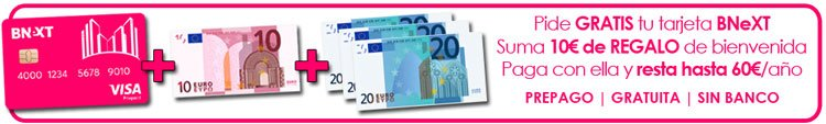 oferta 10 euros gratis con tarjeta Bnext