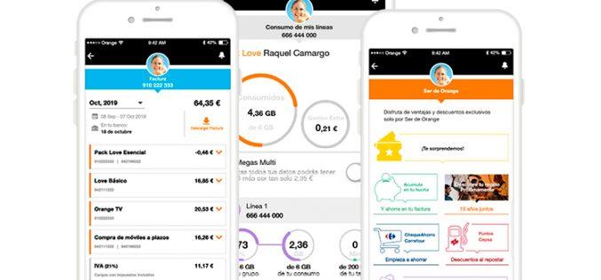 Orange se aplica y renueva su app oficial