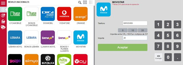 cómo recargar móviles prepago desde Internet