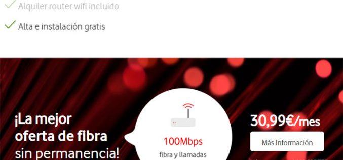 La fibra «sin permanencia» de Vodafone esconde una penalización de 150 euros